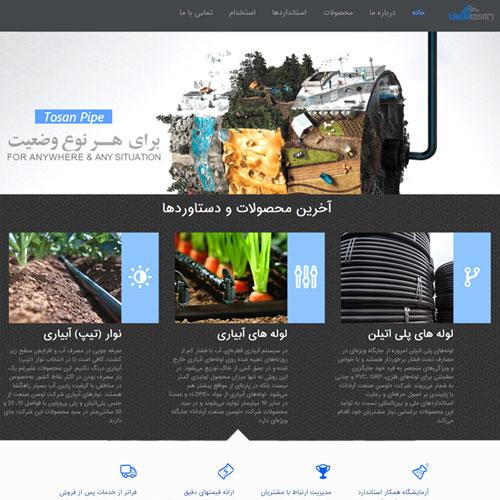 طراحی سایت شرکت بازرگانی توسن