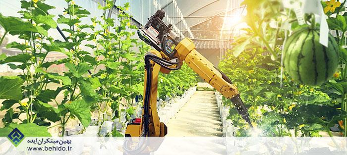 استفاده از ربات در گلخانه هوشمند